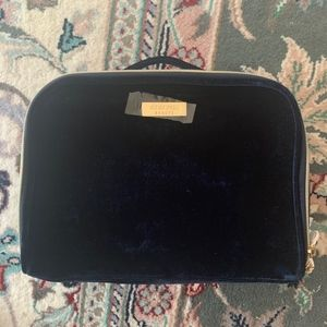 Navy Velvet Cle De Peau Cosmetic Bag